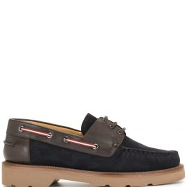 Bally panelled boat shoes - Blue