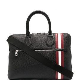 Bally stipe trim laptop bag - Black