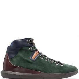 Bally suede panelled hiking boots - Green