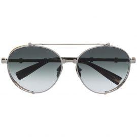 Balmain Eyewear x Akoni gradient double bridge sunglasses - Silver