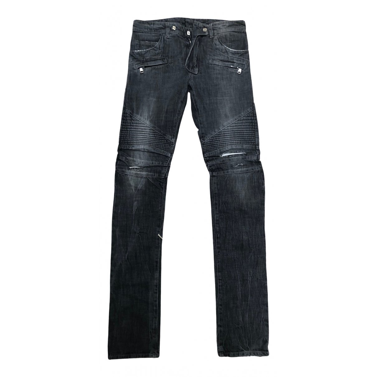 Balmain N Black Cotton Jeans for Men