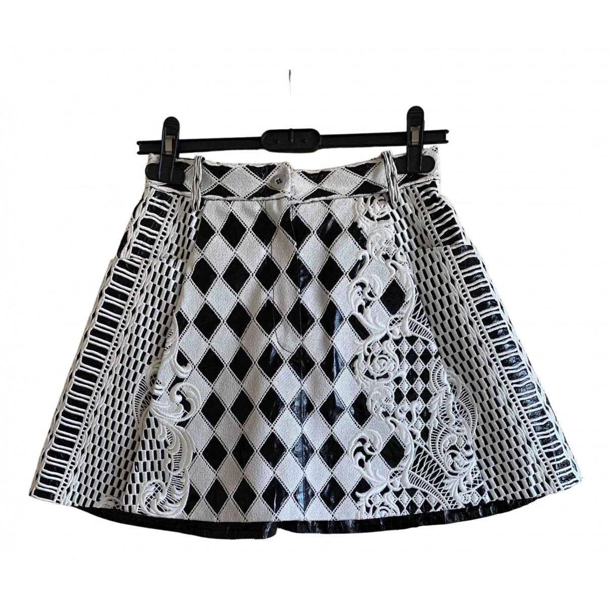Balmain N Black Leather Skirt for Women