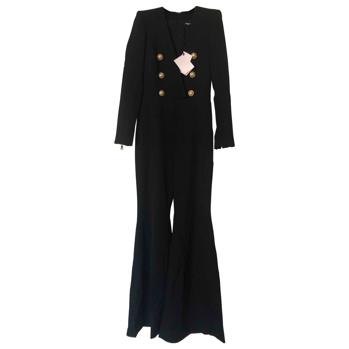 Balmain N Black Wool Jumpsuit for Women