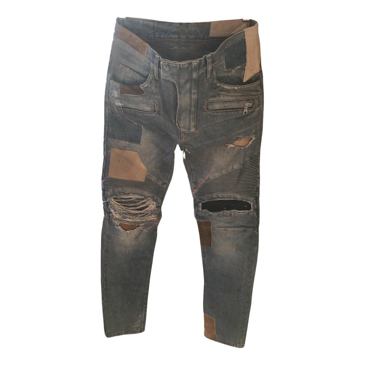 Balmain N Blue Cotton Jeans for Men