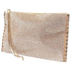 Balmain N Metallic Leather Clutch Bag for Women