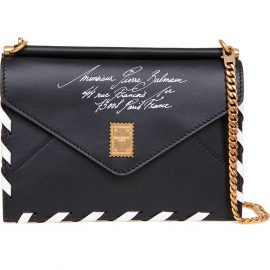 Balmain Shoulder Bag for Women On Sale, Black, Leather, 2021