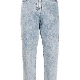 Balmain acid-effect straight-leg jeans - Blue