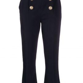 Balmain cropped flared trousers - Blue