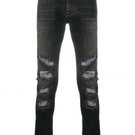 Balmain embellished slim-fit jeans - Black