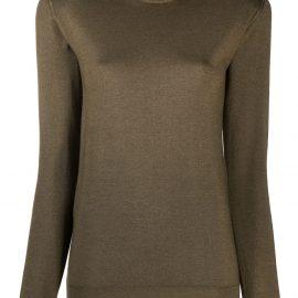 Balmain fine-knit top - Green