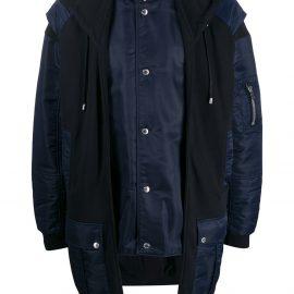 Balmain layered coat - Blue