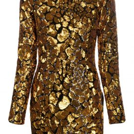 Balmain sequin embellished mini dress - GOLD