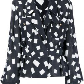 Balmain silk georgette blouse - Black