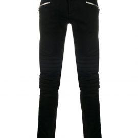 Balmain zip-detail slim-fit jeans - Black