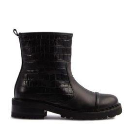 Bibi - Black Embossed Leather