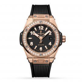 Big Bang One Click King Gold Diamonds 33mm Watch