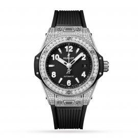 Big Bang One Click Steel Pavé 33mm Ladies Watch