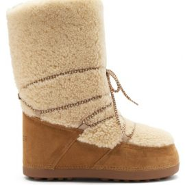 Bogner - Cervinia Shearling And Suede Snow Boots - Womens - Tan White