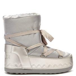 Bogner - Trois Vallées Lace-up Faux Fur-lined Snow Boots - Womens - Silver