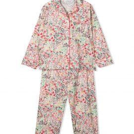 Bonpoint floral-print pyjama set - White