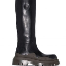 Bottega Veneta BV Tire knee-high leather boots - Black
