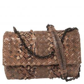 Bottega Veneta Beige/Brown Intrecciato Ayers And Karung Olimpia Baby Shoulder Bag