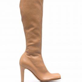 Bottega Veneta Bloc heel knee-high boots - Brown