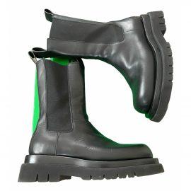 Bottega Veneta Lug leather biker boots