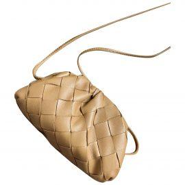 Bottega Veneta Pouch Camel Leather Clutch Bag for Women