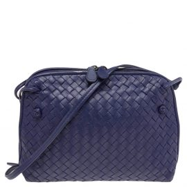 Bottega Veneta Purple Intrecciato Leather Nodini Shoulder Bag