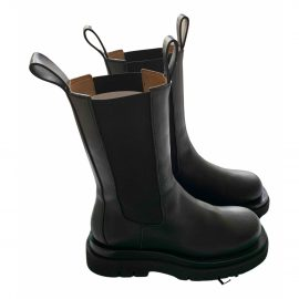 Bottega Veneta Storm leather biker boots