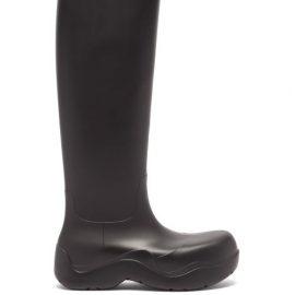 Bottega Veneta - The Puddle Biodegradable-rubber Knee-high Boots - Mens - Black