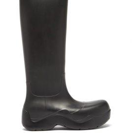 Bottega Veneta - The Puddle Biodegradable-rubber Knee-high Boots - Womens - Black