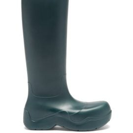Bottega Veneta - The Puddle Biodegradable-rubber Knee-high Boots - Womens - Green