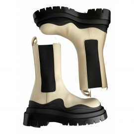 Bottega Veneta Tire leather biker boots