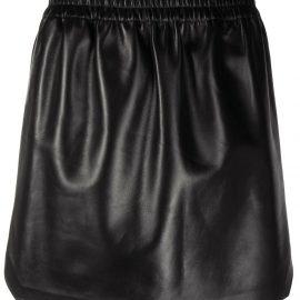 Bottega Veneta high-waist lambskin mini skirt - Black