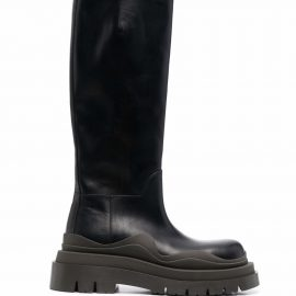 Bottega Veneta round-toe knee-high boots - Black