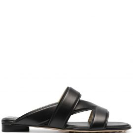Bottega Veneta strap-detail block-heel sandals - Black