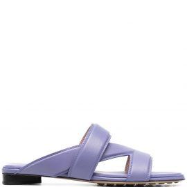 Bottega Veneta strap-detail block-heel sandals - Purple