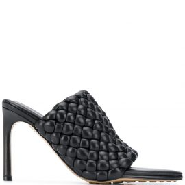Bottega Veneta woven-strap mid-heel mules - Black