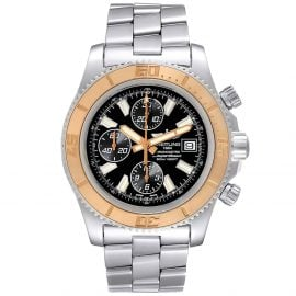 Breitling Black 18K Rose Gold And Stainless Steel Aeromarine SuperOcean II C13341 Men's Wristwatch 44 MM