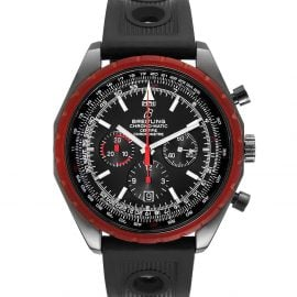 Breitling Black PVD Coated Stainless Steel Navitimer Chronomatic Limited Edition M14360 Men's Wristwatch 49 MM