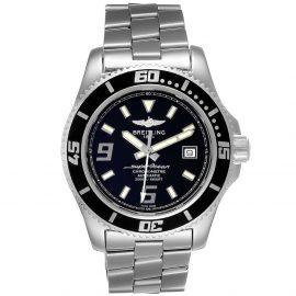 Breitling Black Stainless Steel Aeromarine Superocean A17391 Men's Wristwatch 44 MM