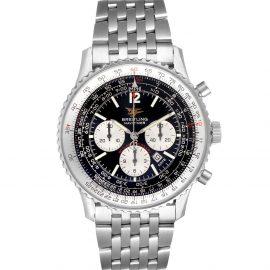 Breitling Black Stainless Steel Navitimer 50th Anniversary A41322 Men's Wristwatch 43 MM