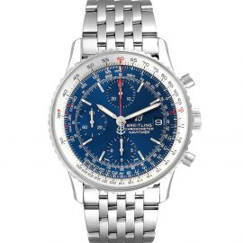 Breitling Blue Stainless Steel Navitimer Heritage A13324 Men's Wristwatch 42 MM