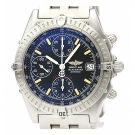 Breitling Chronomat Black Steel Watch for Women