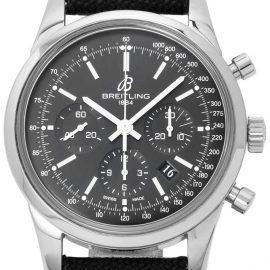 Breitling Transocean Chronograph AB015212.BA99.103W.A20D.1, Baton, 2015, Very Good, Case material Steel, Bracelet material: Fabric