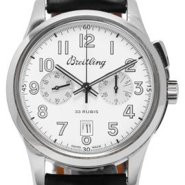 Breitling Transocean Chronograph AB141112.G799, Arabic Numerals, 2016, Good, Case material Steel, Bracelet material: Leather