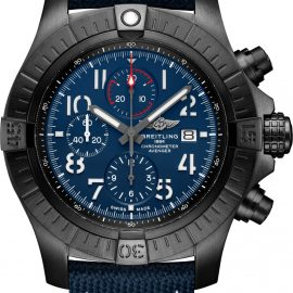 Breitling Watch Super Avenger Chronograph 48 Night Mission Leather Tang Type