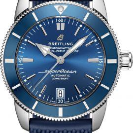 Breitling Watch Superocean Heritage B20 Automatic 42 Gun Blue Rubber Aero Classic